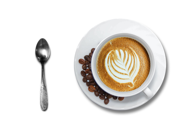 Kaffekopp m sked